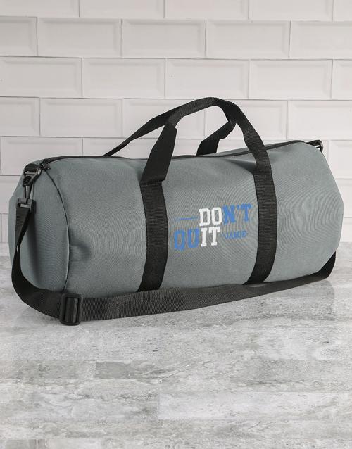 personalised: Personalised Do It Grey Gym Duffel Bag!