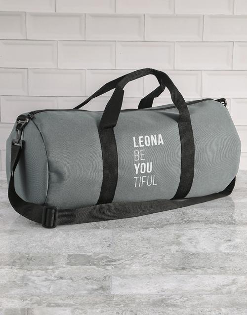 personalised: Personalised BeYouTiful Grey Gym Duffel Bag!