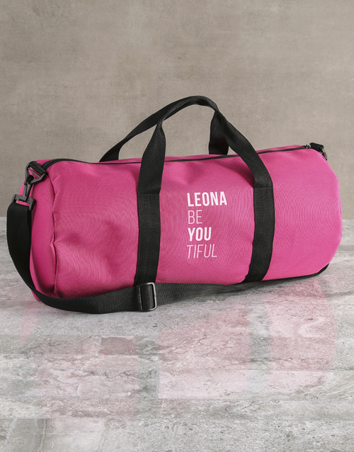 personalised: Personalised BeYouTiful Pink Gym Duffel Bag!