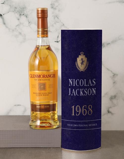 anniversary: Personalised Glenmorangie Whisky Classic Tube!
