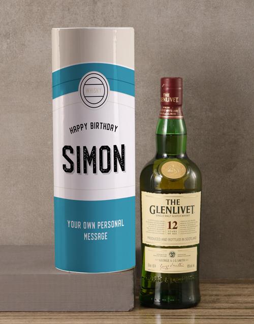 birthday: Personalised Glenlivet Retro Whisky Tube!