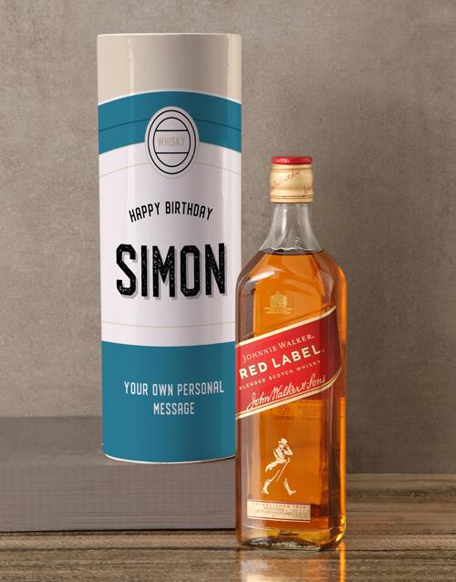 rosh-hashanah: Personalised Johnnie Walker Retro Whisky Tube!