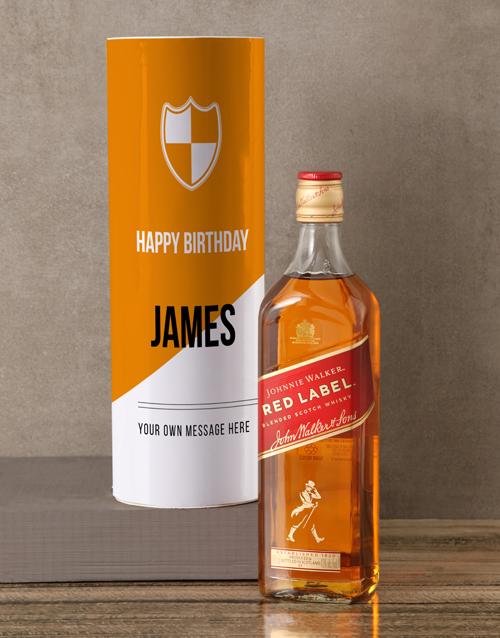 personalised: Personalised Johnnie Walker Whisky Modern Tube!