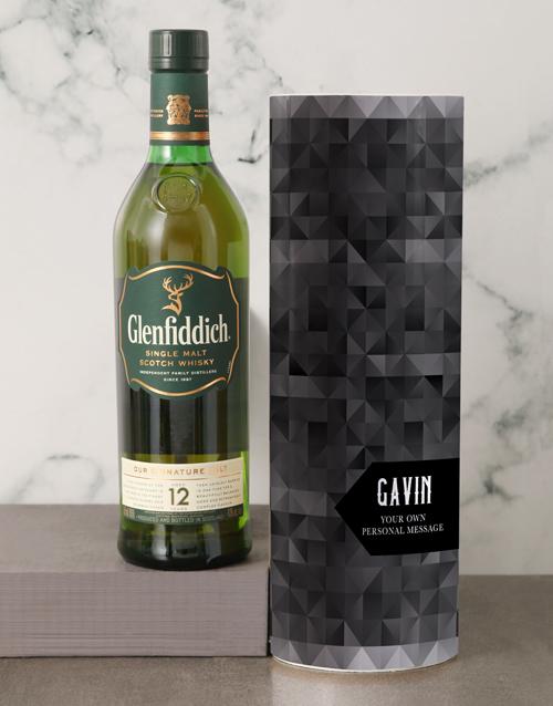 rosh-hashanah: Personalised Glenfiddich Whisky Tube!