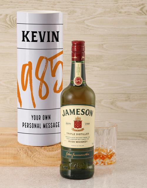 christmas: Personalised Jameson Whiskey Good Year Tube!