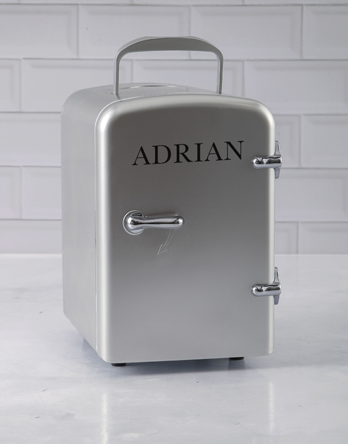 gadgets: Personalised Silver Desk Fridge!