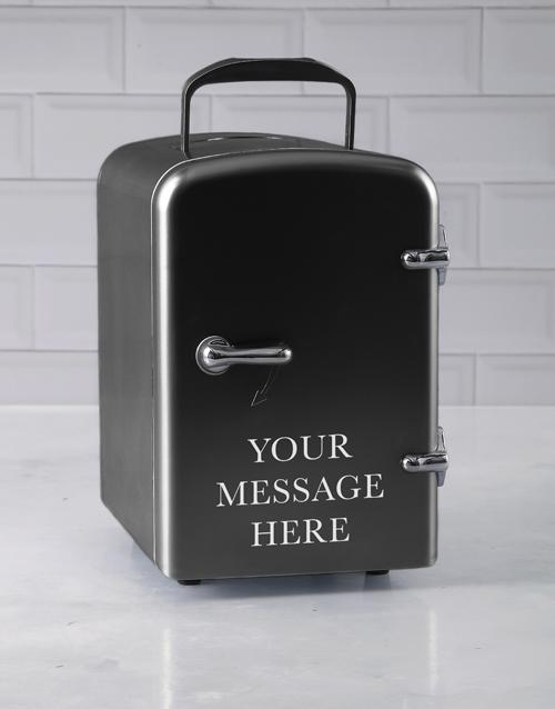 christmas: Personalised Message Black Desk Fridge!
