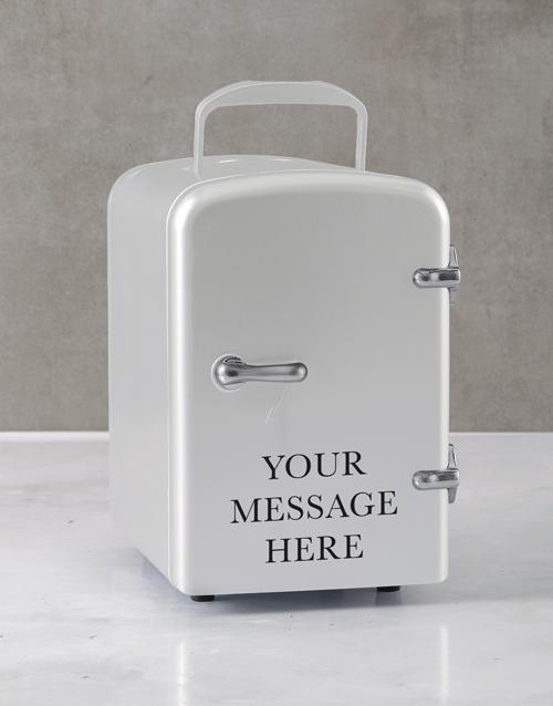 gadgets: Personalised Message White Desk Fridge!