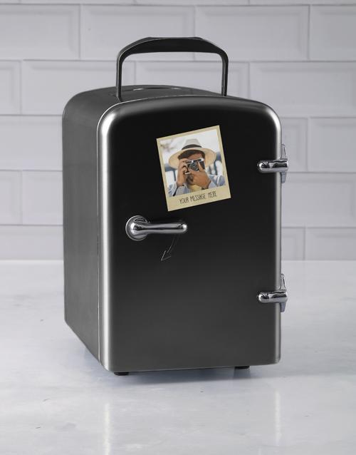 gadgets: Personalised Polaroid Black Desk Fridge!