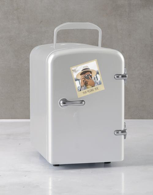 gadgets: Personalised Polaroid White Desk Fridge!