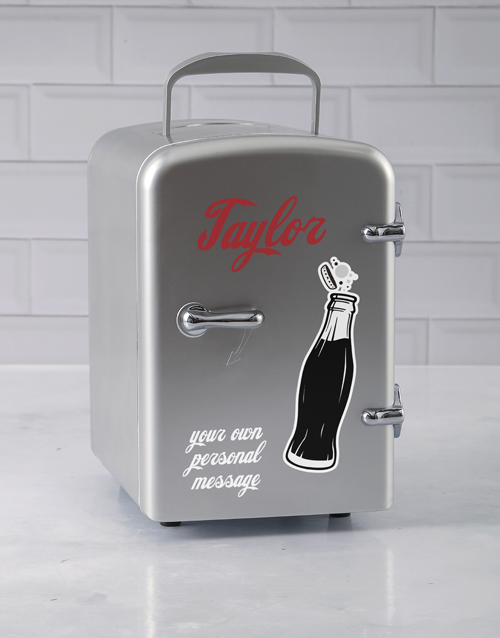 gadgets: Personalised Cola Silver Desk Fridge!