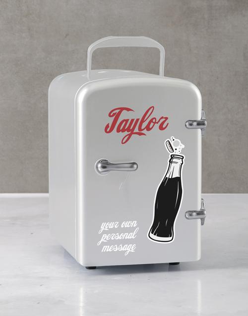 gadgets: Personalised Cola White Desk Fridge!