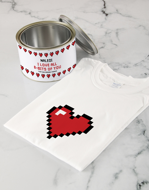 valentines-day:  Personalised Love Heart T Shirt Tin!
