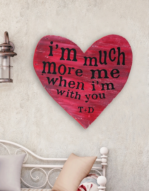 personalised: Personalised Much More Wooden Heart!