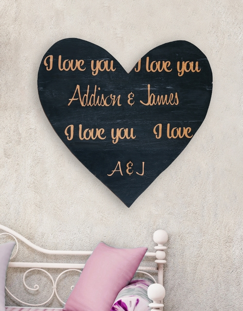 home-decor: Personalised Repetition Wooden Heart!