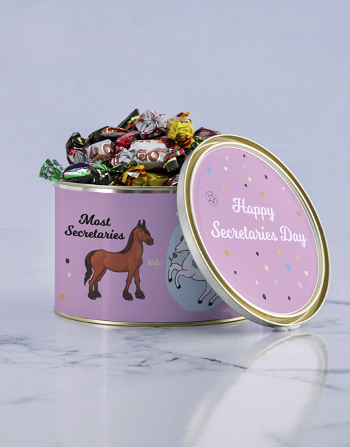 personalised: Personalised Unicorn Secretary Tin!