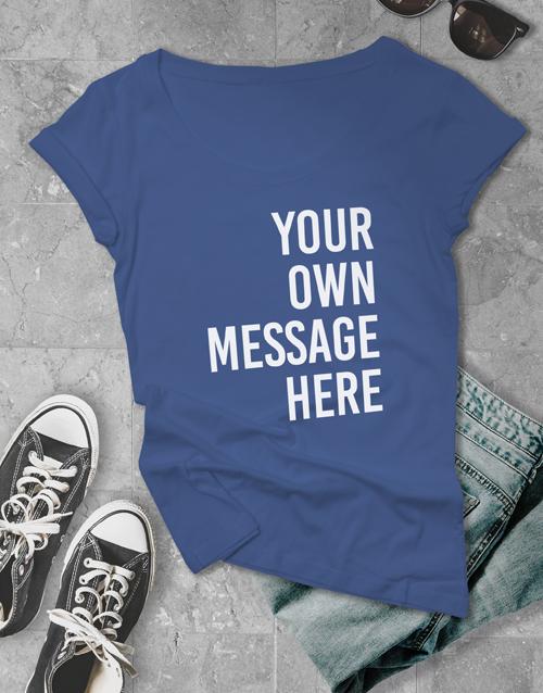 clothing: Personalised Royal Blue Ladies T Shirt!
