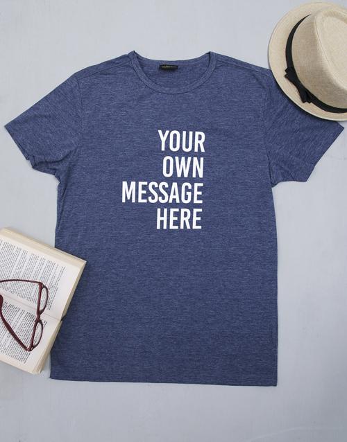 clothing: Personalised Navy Mens T Shirt!