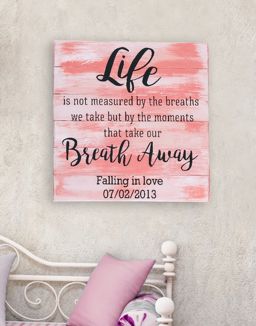 home-decor: Personalised Breath Away Wall Art!
