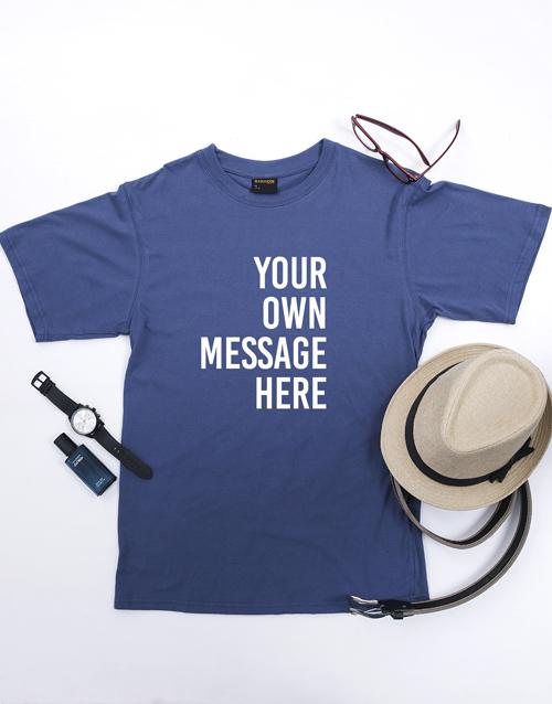 clothing: Personalised Petrol Blue Mens T Shirt!
