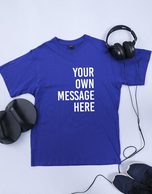 clothing: Personalised Royal Blue Mens T Shirt!