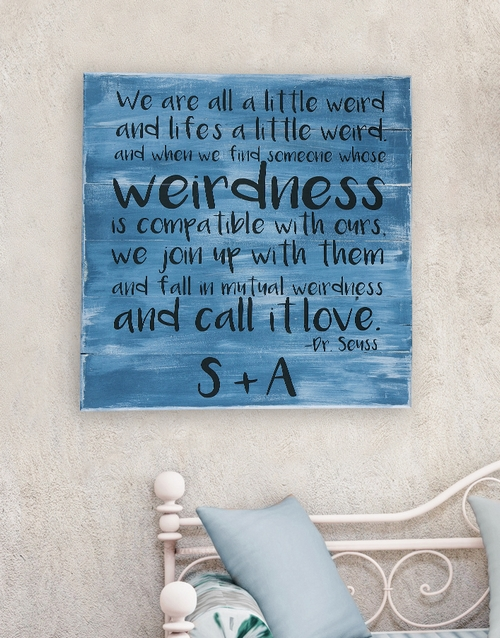 personalised: Personalised Weirdness Wall Art!