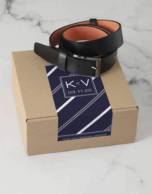 apparel: Personalised Navy Stripe Apparel Box !