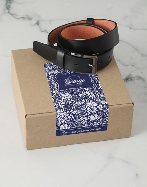 apparel: Personalised Navy Floral Belt Box!