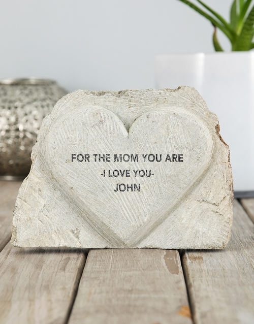 mothers-day: Personalised The Mom You Are Stone Heart!