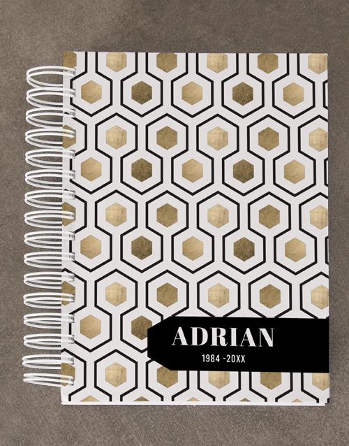 christmas: Personalised Honeycomb Diary Set!