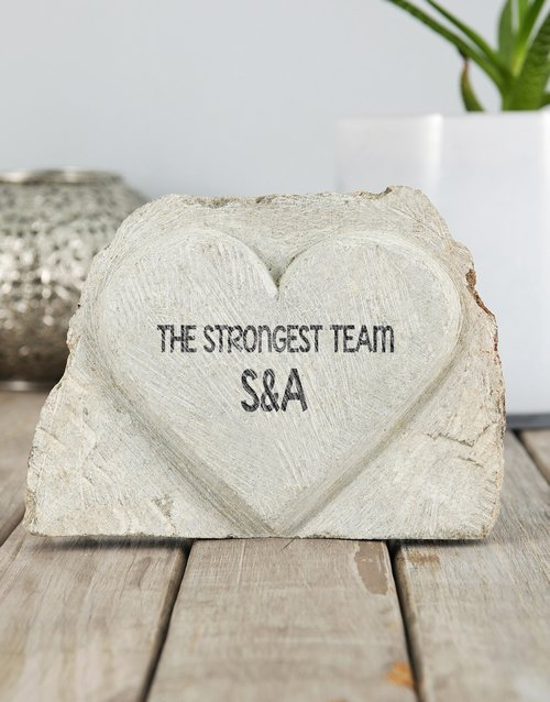 home-decor: Personalised Strongest Team Stone Heart!