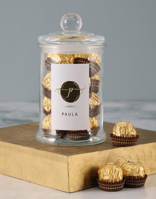 new-years: Personalised Name Ferrero Candy Jar!