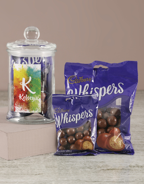 fathers-day: Personalised Colour Splash Whispers Candy Jar!