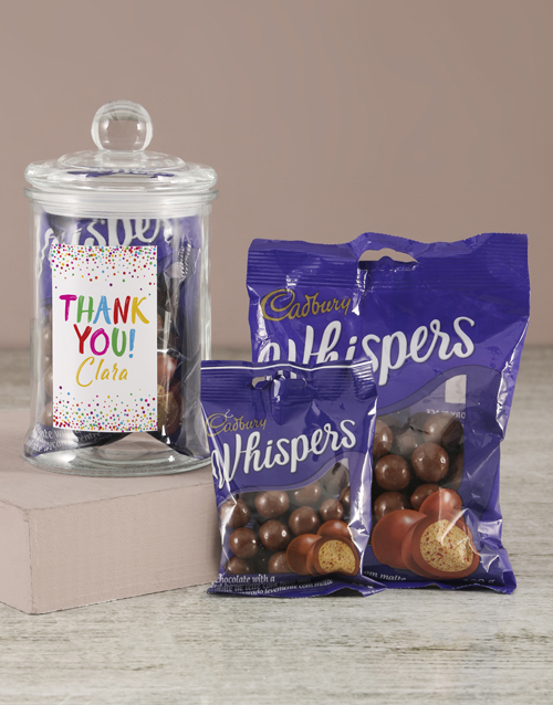candy-jars: Personalised Thank You Whispers Candy Jar!
