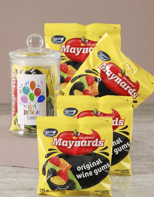 birthday: Personalised Birthday Maynards Candy Jar!