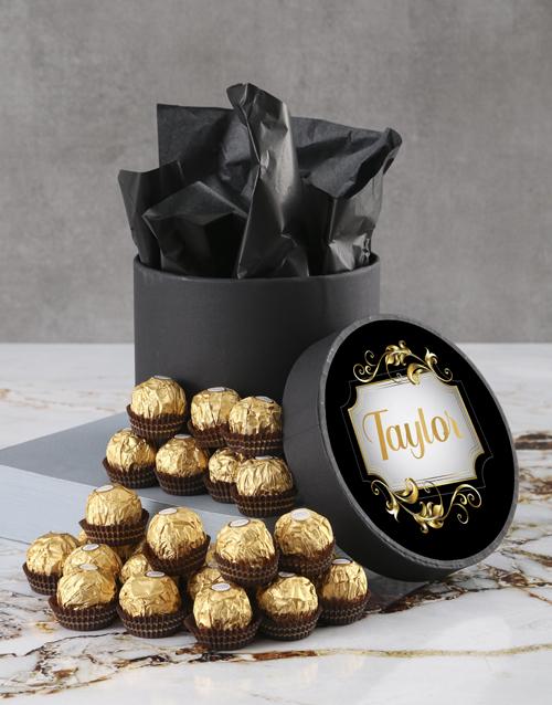 christmas: Personalised Elegant Ferrero Rocher Hatbox!