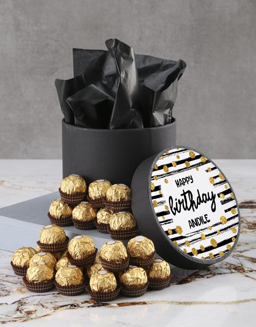 birthday: Personalised Birthday Ferrero Rocher Hatbox!