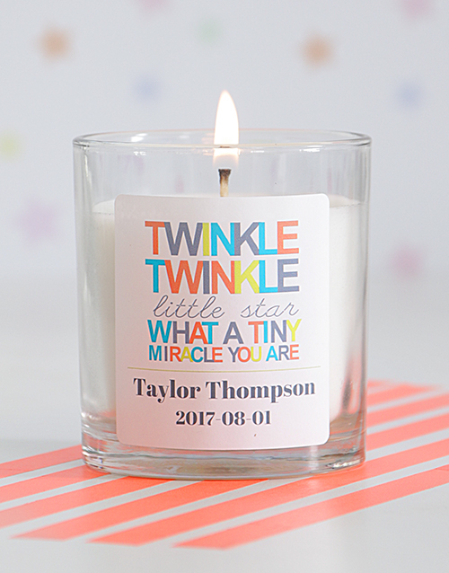 bath-and-body: Personalised Twinkle Twinkle Baby Generic Candle!