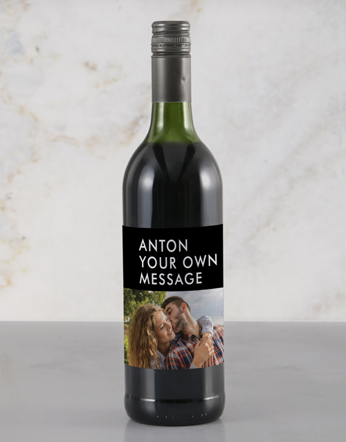 personalised: Personalised Stylish Photo Rietvallei Wine!