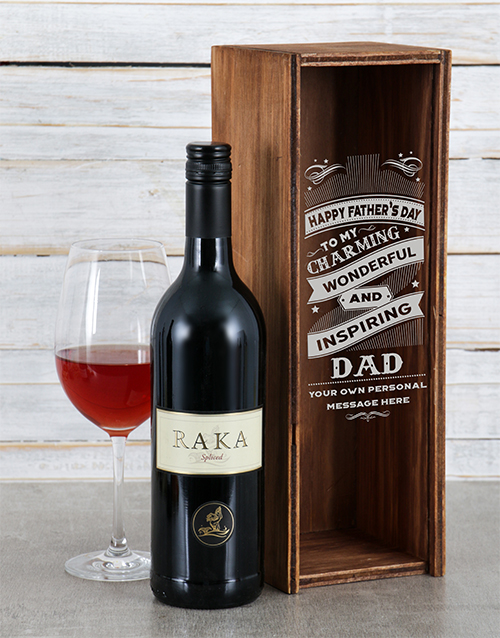fathers-day: Personalised Inspiring Dad Wine Crate!
