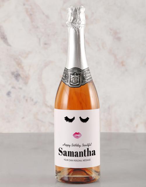 birthday: Personalised Glamour Birthday Rietvallei Wine!
