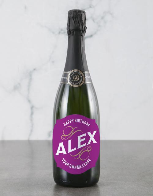 birthday: Personalised Pink Birthday Backsberg Wine!