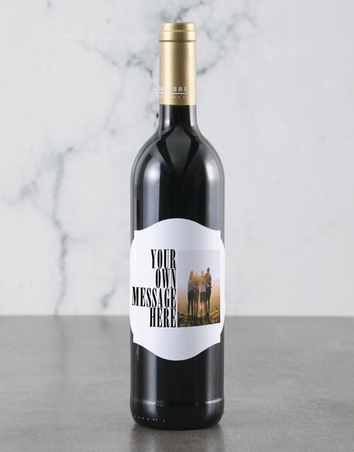 valentines-day: Personalised Photo Message Backsberg Wine!