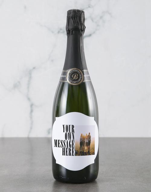 valentines-day: Personalised Modern Photo Backsberg Wine!