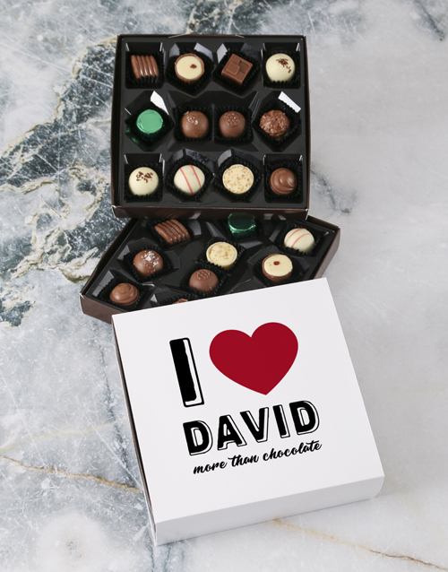 chocolate: Personalised Love You Double Choc Tray!