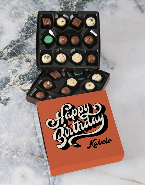 birthday: Personalised Birthday Wishes Double Choc Tray!