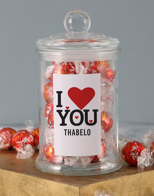 candy-jars: Personalised Love You Lindt Jar!