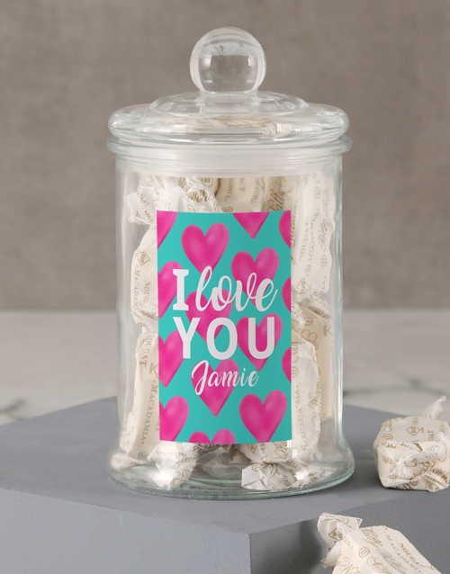 candy-jars: Personalised I Love You Sally Williams Jar!