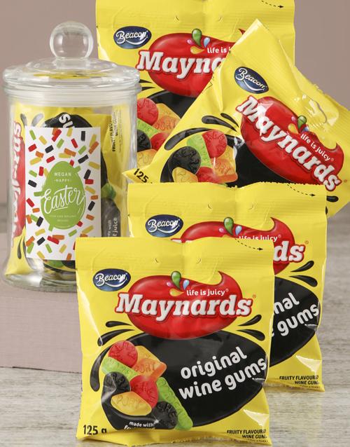 candy-jars: Personalised Wine Gums Easter Jar!