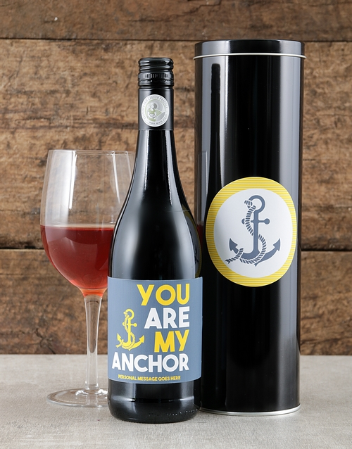 fathers-day: Personalised My Anchor Wine Tin!